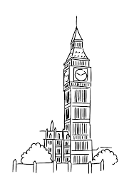 Big Ben Colouring Page For Kids