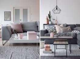 wohnzimmer deko ideen rosa grau
