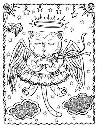 Fantasy Cats Instant Download 5 Coloring Pages By ChubbyMermaid Zentangle Book Colouring Adult Detailed