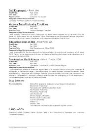 Sample Employment Resume Self Employed Examples Handyman Job For College Student