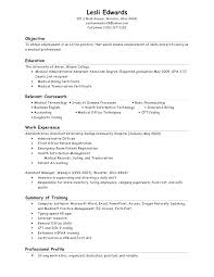 Medical Assistant Job Objective Sample Resume Choose Example For