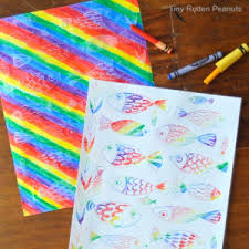 Easy Coloring Projects Funny Fish Crayon Art