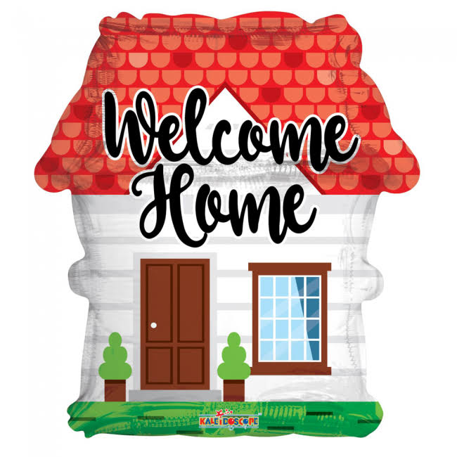"18"" Welcome Home Shape Foil Balloon - Mylar Balloons Foil"