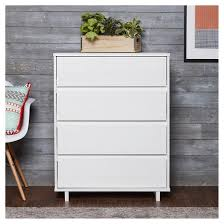 modern 4 drawer dresser white room essentials target
