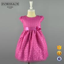 Wholesale Adorable Pink Simple Design Girls Frock 2016 Party Designs For Teenagers Quality Pakistani Baby