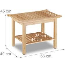 badezimmer bank bambus sitzbank bad ablage badhocker holz hxbxt 45 x 66 x 40 cm badezimmermöbel natur