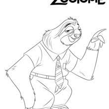 Flash From Zootopia Coloring Page