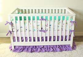 Coral And Mint Crib Bedding by Mermaid Crib Bedding Ocean Baby Bedding Purple Mint