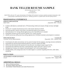 Resume Summary Examples For Teller Plus Bank Stunning To Make