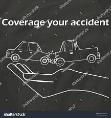 Car Crash On Hand Draw Chalk Stock Vector (Royalty Free) 318508643 ...