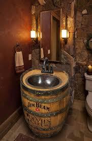 whiskyfass waschbecken gehämmert kupfernes rustikales