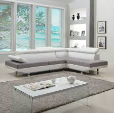 100 Modern Couch Design Details About Contemporary 2 Tone Microfiber Bonded Leather Sectional Sofa White