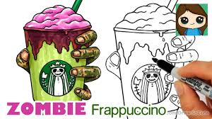 How To Draw A Starbucks Zombie Frappuccino