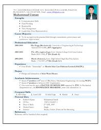 Resume Format For Mechanical Engineering Freshers It Best Cv Engineers
