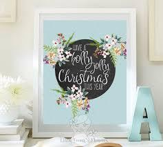 Christmas Wall Art Printable Winter Decor By LittleEmmasFlowers