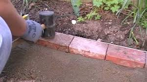 Menards Patio Block Edging by Laying A Block Edge Course Youtube