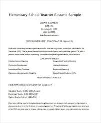 Teacher Resume Sample