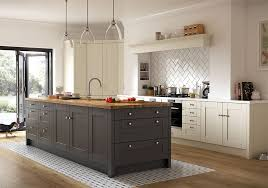 The Chelsea Matt Dove Grey Kitchen From Benchmarx Kitchens Shown With Solid Oak Worktop Is Priced GBP3069 For An Eight Unit