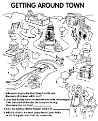 Crayola Crayon Colors Getting Around Town Coloring Page