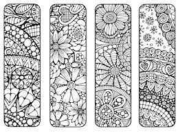 Bookmarks To Print And Color Bookmark By LittleShopTreasures Davlin Publishing Adultcoloring