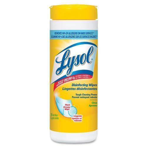 Lysol Disinfecting Thick Strong Cleaning Wipes - Citrus, 210 Count