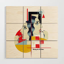 100 Bauhaus Style Famous People In A Bauhaus Style Rossy De Palma Wood Wall Art By Cardula