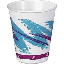 SOLO Trophy Jazz Hot Cold Foam Cups 8 oz 100 Pack