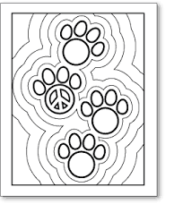 Paw Prints Peace Sign