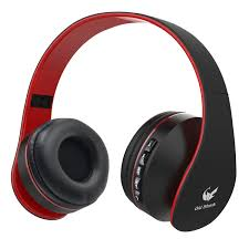 Amazon Old Shark Foldable Bluetooth Over ear Headphone for Kids ear Wireless Headset for Adults Built in Mic With 3 5mm Audio Cable Red and Black