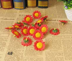 Free Shipping 100 Piece Lot Cheap Daisy Artificial Flower Corsage Hair Accessory Beach Diy Accessories 13color In Dried Flowers