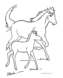 Draw Free Horse Coloring Pages 20 On Picture Page With
