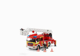100 Playmobil Fire Truck Toy Box Beautiful Ladder Unit With Lights And Sound 5362