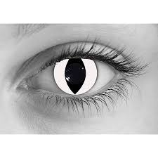 All White Halloween Contacts by Halloween Contacts And Crazy Contact Lenses