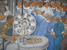 Coit Tower Murals Controversy by Coit Tower Wpa Murals San Francisco Coit Tower Murals Pinterest