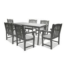 Vifah Renaissance Rectangular Table Arm Chair Outdoor Hand ...