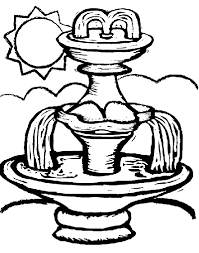 Fountain Coloring Page