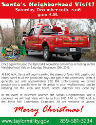 Santa's Neighborhood Visit! > City Of Taylor Mill, KY