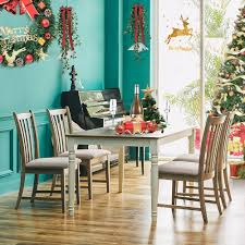 US $109.99 15% OFF|Furgle Christmas Wood Dining Table Set Of 5Pcs Dining  Chair For Kitchen Breakfast Furniture Coffee Table Chairs With Fabric Seat  On ... Kitchen Ding Room Fniture Ashley Homestore 42 Off Macys Chairs Mix Match Mycs Ding Chairs Joelix Best In 2019 Review Guide Amatop10 Rustic Counter Height Table Sets Odium Brown Fascating Modern Clearance Cool Skill Tables Shaker Set Of 4 Espresso Walmartcom Slime Teak Chair Teak Fniture White Pretty Studio Faux Octagon 3 Ways To Increase The Wikihow