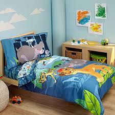 Doc Mcstuffins Toddler Bed Set by Disney Lion Guard Prideland Adventures 4 Piece Toddler Bedding Set