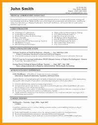 Lab Assistant Certification Example Sample Resume Medical Laboratory Technologist Save