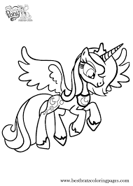 Princess Luna Printable Coloring Pages Page Free