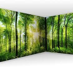 murando eckfototapete selbstklebend wald 539x250 cm tapete wandtapete klebefolie dekorfolie tapetenfolie wand dekoration wandaufkleber wohnzimmer