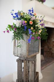 Rustic Apple Crates With Flowers For Vintage Weddings