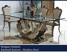 designer esstische edelstahl esszimmer tische glastische