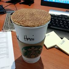 Starbucks Coffee Cappuccino Caramel Waffle Yummy Good Morning