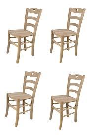 t m c s tommychairs 4er set stühle cuore für küche und esszimmer robuste struktur aus poliertem buchenholz unbehandelt und 100 natürlich