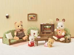 sylvanian families deluxe tv set 4264 sylvanian families