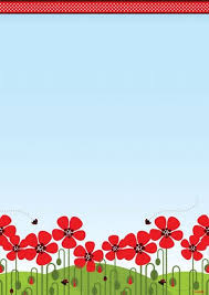 Red Poppies Pop Up Design Paper A4 25 PK