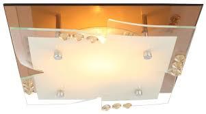 7 watt led decken glas spiegel leuchte chrom kristalle wohnzimmer beleuchtung eek a