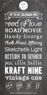 FREE Chalkboard Fonts And Images Kit